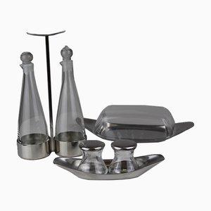 Tableware Set by Wilhelm Wagenfeld for Vereinigte Metallwerke Ranshofen Berndorf AG Austria, 1960s