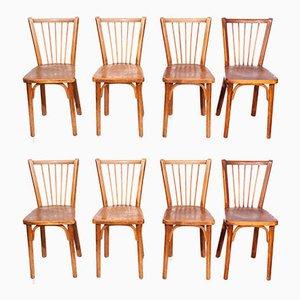 Bistro Stühle von Joamin Baumann für Baumann, 1950er, 8er Set