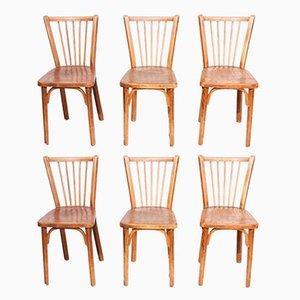 Bistro Stühle von Joamin Baumann für Baumann, 1950er, 6er Set