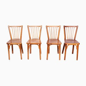 Bistro Chairs by Joamin Baumann for Baumann, 1950s, Set of 4