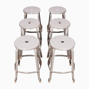 Industrial Stacking Stools from Nicholle, 1950s, Set of 6