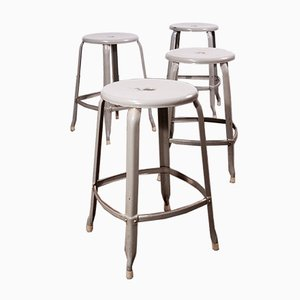 French Steel Stools by Paul-Henry Nicholle for Industrial Nicholle, 1950s, Set of 4