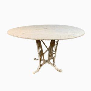 Tavolo da giardino in vernice e ferro battuto, Francia, anni '20