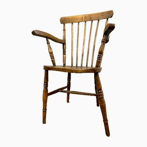 Chaise d'Appoint Antique en Hêtre et Orme