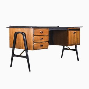 Teak Desk by Louis van Teeffelen for WéBé, 1960s