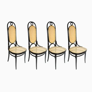 Ebonised Long John's Diner Chairs from Gebrüder Thonet Vienna GmbH, Set of 4