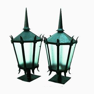 Grandes Lanternes en Fer, 1890s, Set de 2