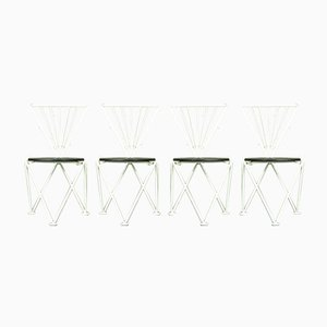 Italian Modern Dining Chairs by Jochen Hoffmann for Bonaldo, 1980s, Set of 4