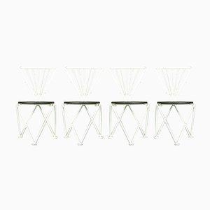Italian Modern Dining Chairs by Jochen Hoffmann for Bonaldo, 1980s, Set of 4