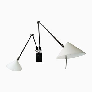 Double Hinged Wall Lamp with Dimmer from Pola Design Amstelveen, 1980s