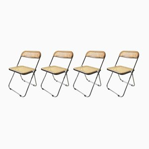 Italian Modern Folding Chairs by Giancarlo Piretti for Castelli, 1970s, Set of 4
