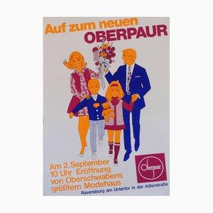 Póster publicitario alemán de Oberpaur, años 60