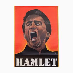 Hamlet Stage Theatre Play Poster by Paul Davis, 1975
