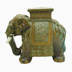 Ceramic Elephant Figurine, 1980s