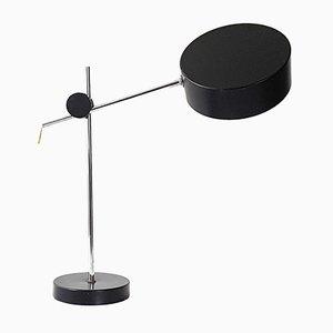 Lámpara de mesa francesa Mid-Century de acero, años 60