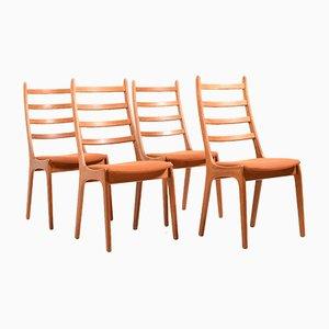 Sedie da pranzo in teak di Kai Kristiansen per Korup Stolefabrik, Danimarca, anni '60, set di 4