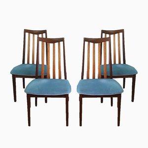 Esszimmerstühle aus Teak von G-Plan, 1970er, 4er Set
