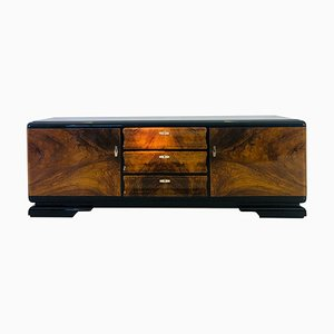 Art Deco French Burl Walnut Sideboard, 1920s