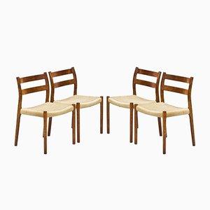 Chaises de Salle à Manger Modèle 84 par Niels Otto Møller pour JL Møllers, Danemark, 1960s, Set de 8