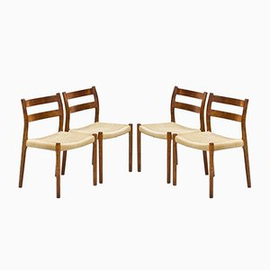 Danish Model 84 Dining Chairs by Niels Otto Møller for J.L. Møllers, 1960s, Set of 8