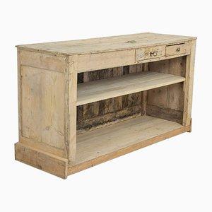 Bancone da negozio antico in legno