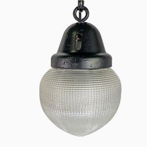 Lampada da soffitto Art Déco vintage in acciaio, anni '30