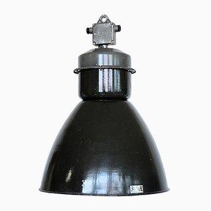 Lámpara de techo Mid-Century de metal y esmalte, años 60