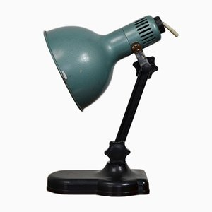 Industrial Plastic and Steel Table Lamp, 1980s