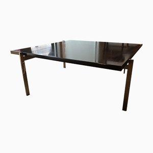Tavolino da caffè in acciaio e stucco di Poul Kjærholm per Fritz Hansen, Danimarca, 2007