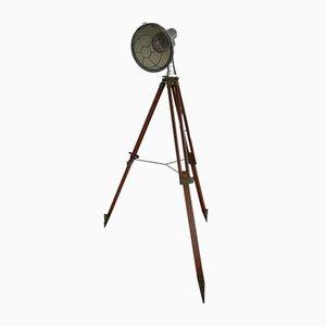 Lámpara de pie trípode industrial italiana vintage, años 20
