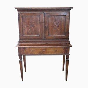 Secretaire antico intagliato in noce, fine XVIII secolo