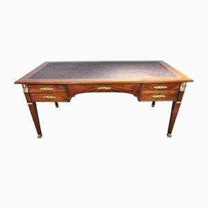 Antiker französischer Schreibtisch aus Bronze & Mahagoni