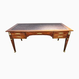 Antique French Bronze and Mahogany Desk