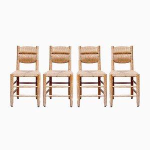 Chaises d'Appoint Vintage par Charlotte Perriand, 1950s, Set de 4