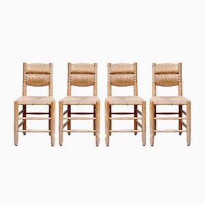 Vintage Side Chairs by Charlotte Perriand, 1950s, Set of 4