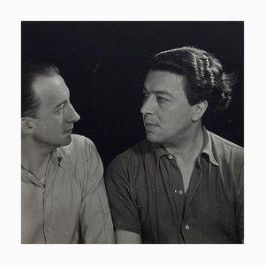 Fotografía de Paul Eluard y André Breton de Man Ray para Pierre Gassmann, 1977