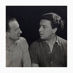 Photo of Paul Eluard and André Breton by Man Ray for Pierre Gassmann, 1977