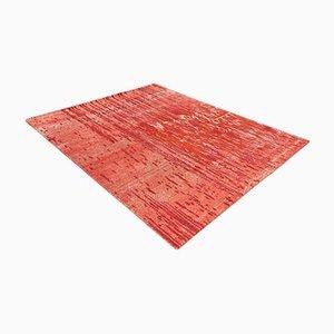 Großer handgeknüpfter tibetischer Teppich aus Wolle & Seide, 2007
