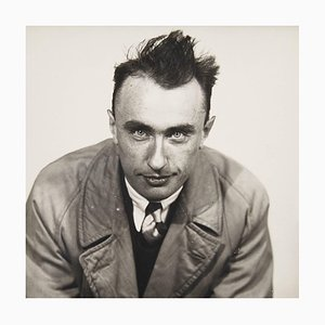 Portrait Photo Yves Tanguy par Man Ray pour Pierre Gassmann, 1977