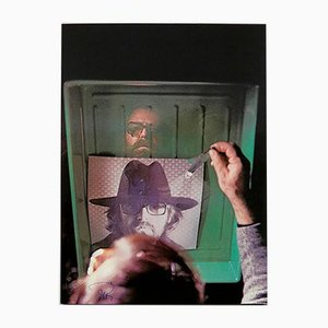 Photolithography L' Aquario by Michelangelo Pistoletto, 1970s