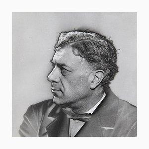Fotografía solarizada en blanco y negro de Georges Braque de Man Ray para Pierre Gassmann, 1977