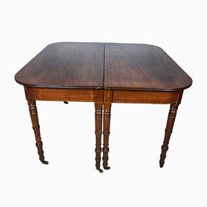 Tavolo da pranzo Regency in mogano, XIX secolo