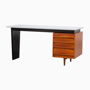 Formica and Walnut Desk by Jos de Mey for Van den Berghe Pauvers, 1960s