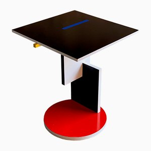 Italian Schroeder 1 Side Table by Gerrit Rietveld for Cassina, 1980s