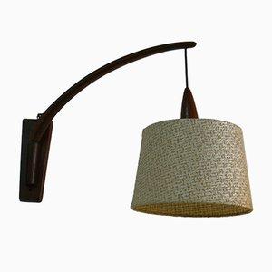Dänische Mid-Century Wandlampe aus Teak, 1950er