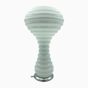 Lampada da tavolo in vetro soffiato a mano di Verner Panton per Holmegaard, Danimarca, anni '80