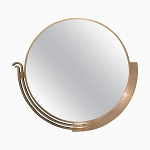 Large Modernist French Mirror by Edgar-William Brandt, 1930s