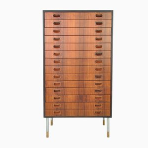 Scandinavian Rosewood Chest of Drawers by Erik Wørts, 1950s