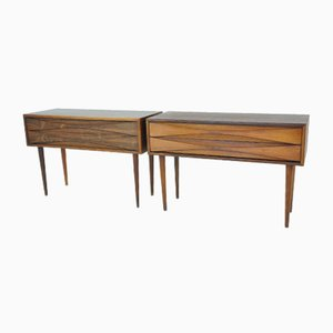 Scandinavian Rosewood Nightstands by Arne Vodder for NC Möbler, 1950s, Set of 2