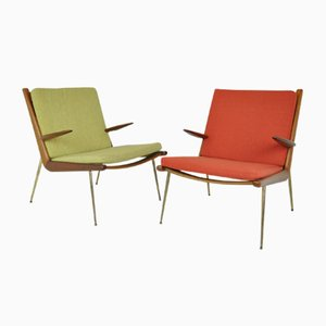 Boomerang Easy Chairs by Peter Hvidt & Orla Mølgaard-Nielsen for France & Daverkosen, 1950s, Set of 2